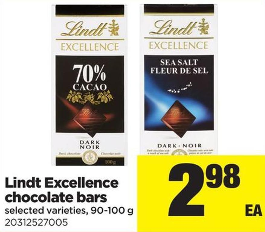 Lindt Excellence Chocolate Bars - 90-100 G