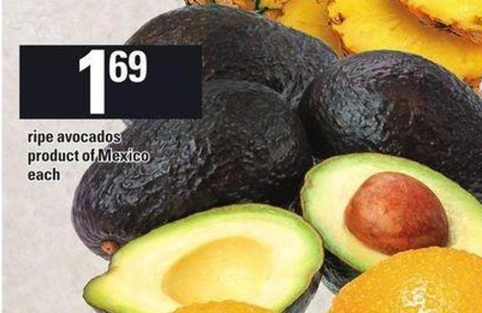 Ripe Avocados Product Of Mexico
