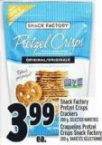 Snack Factory Pretzel Crisps Crackers