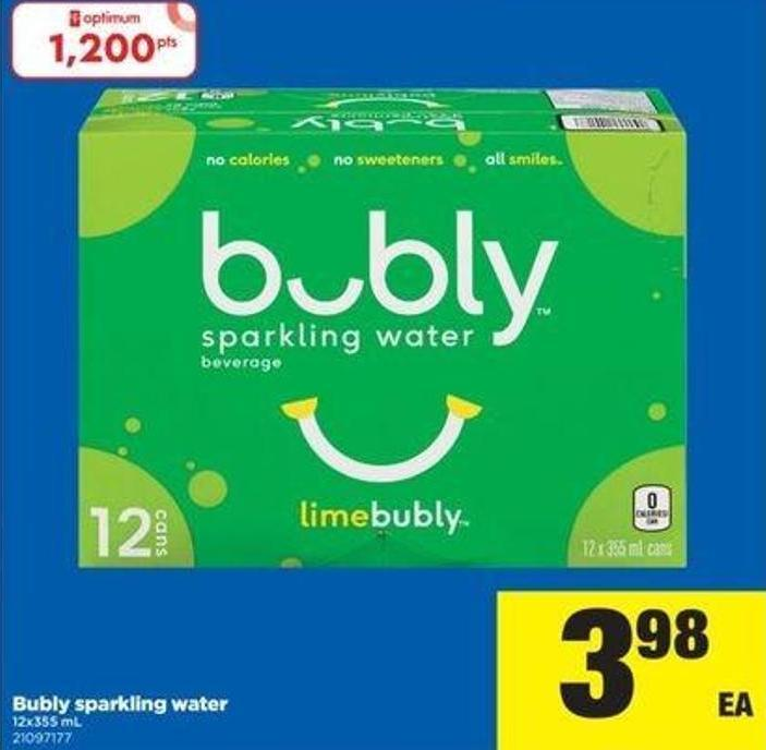 Bubly Sparkling Water 12x355 mL