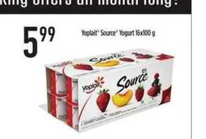 Yoplait Source Yogurt 16x100 g