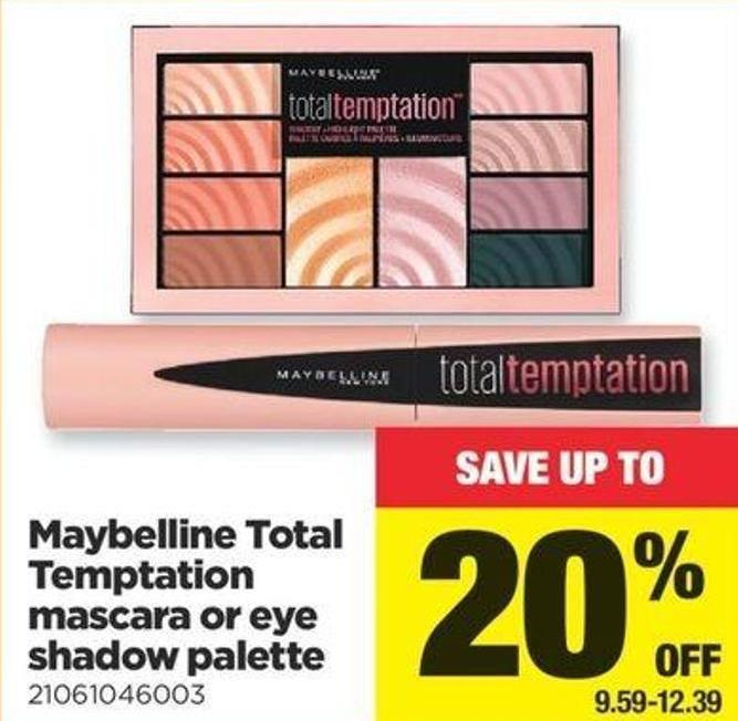 Maybelline Total Temptation Mascara Or Eye Shadow Palette