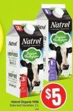 Natrel Organic Milk Selected Varieties 2 L