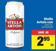 Stella Artois Can - 500 mL
