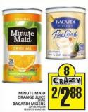 Minute Maid Orange Juice Or Bacardi Mixers