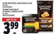 Cracker Barrel Slices - Snack Cheese Or Feta 168 - 240 g