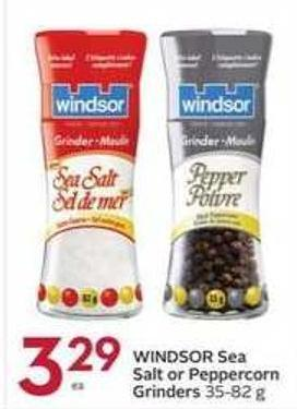 Windsor Sea Salt or Peppercorn Grinders 35-82 g