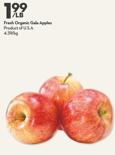 Fresh Organic Gala Apples