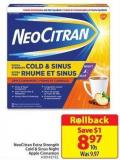 Neocitran Extra Strength Cold & Sinus Night Apple Cinnamon 10's