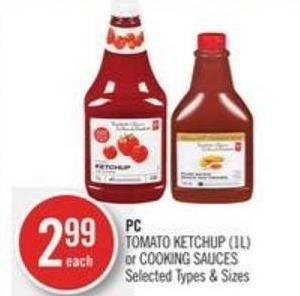 PC Tomato Ketchup (1l) or Cooking Sauces