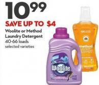 Woolite or Method  Laundry Detergent  40-66 Loads