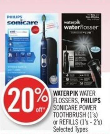 Waterpik Water Flossers - Philips Sonicare Power Toothbrush (1's) or Refills (1's - 2's)