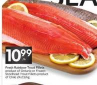 Fresh Rainbow Trout Fillets