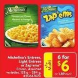 Michelina's Entrees - Light Entrees or Zap'ems