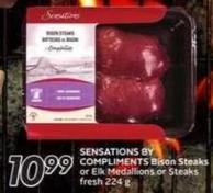 Sensations By Compliments Bison Steaks