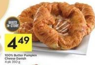 100% Butter Pumpkin Cheese Danish