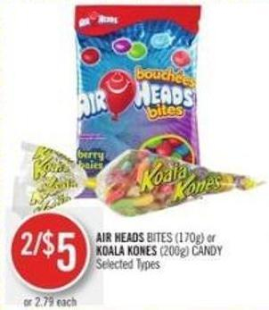 Air Heads Bites (170g) or Koala Kones (200g) Candy
