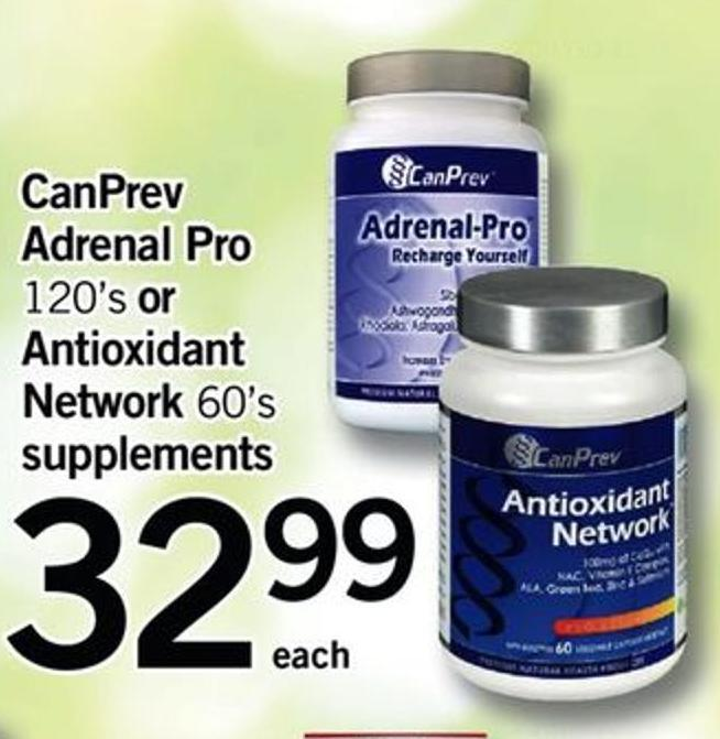 Canprev Adrenal Pro - 120's Or Antioxidant Network - 60's Supplements