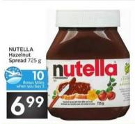 Nutella Hazelnut Spread - 10 Air Miles Bonus Miles