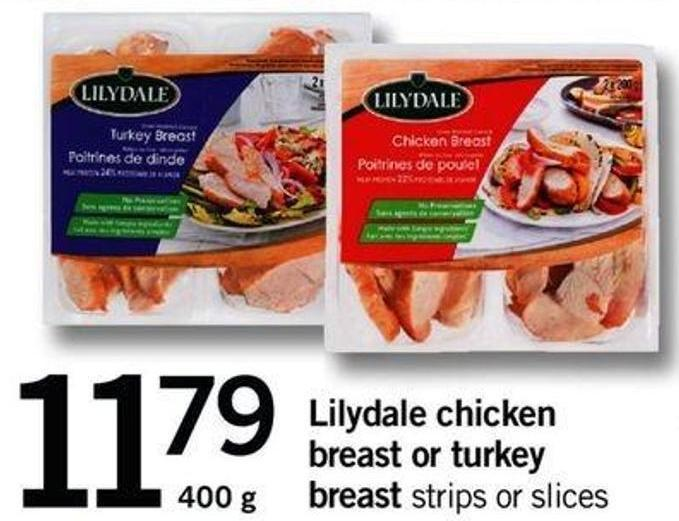 Lilydale Chicken Breast Or Turkey Breast - 400 G