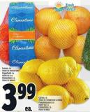 Lemons 2 Lb Product Of Spain Or Turkey Grapefruits 3 Lb Product Of U.S.A. Clementines 2 Lb Product Of Morocco