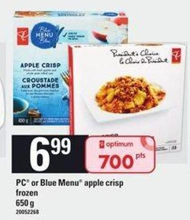 PC Or Blue Menu Apple Crisp - 650 g