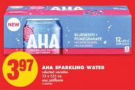 Aha Sparkling Water - 12 X 355 mL