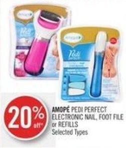 Amopé Pedi Perfect Electronic Nail - Foot File or Refills