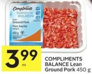 Compliments Balance Lean Ground Pork 450 g