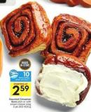 Gourmet Cinnamon Buns Plain or With Cream Cheese Icing 2 Pk 320-400 g  10 Air Miles Bonus Miles
