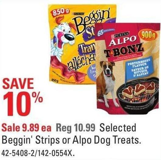 Selected Beggin' Strips or Alpo Dog Treats