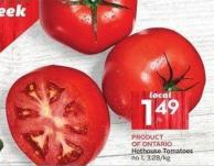 Hothouse Tomatoes No 1 - 3.28/kg