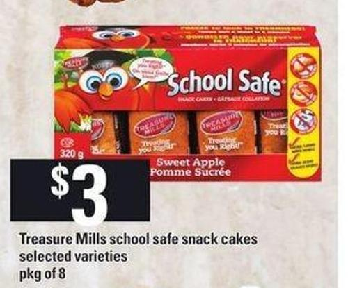 Treasure Mills School Safe Snack Cakes - Pkg of 8