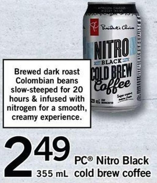 PC Nitro Black Cold Brew Coffee - 355 Ml