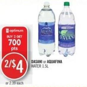 Dasani or Aquafina Water 1.5l