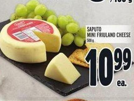 Saputo Mini Friulano Cheese - 500 G