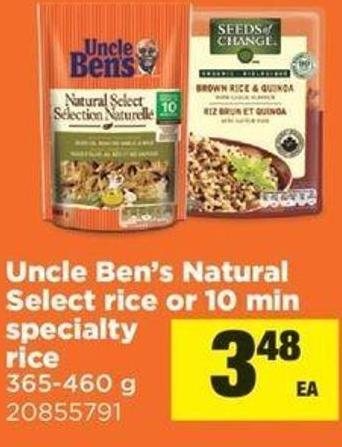 Uncle Ben's Natural Select Rice Or 10 Min Specialty Rice - 365-460 G