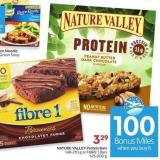 Nature Valley Protein Bars 148-210 g or Fibre 1 Bars 125-200 G- 100 Air Miles