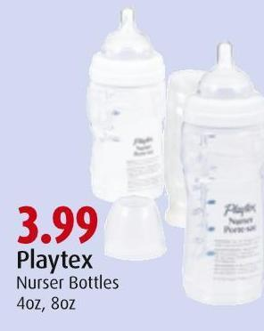 Playtex Nurser Bottles 4oz - 8oz