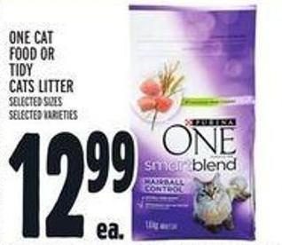 One Cat Food Or Tidy Cats Litter