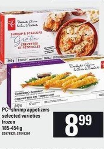 PC Shrimp Appetizers.185-454 g