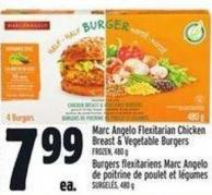 Marc Angelo Flexitarian Chicken Breast & Vegetable Burgers