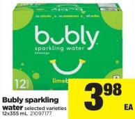Bubly Sparkling Water - 12x355 mL