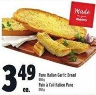 Pane Italian Garlic Bread