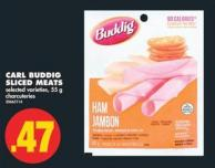 Carl Buddig Sliced Meats - 55 g