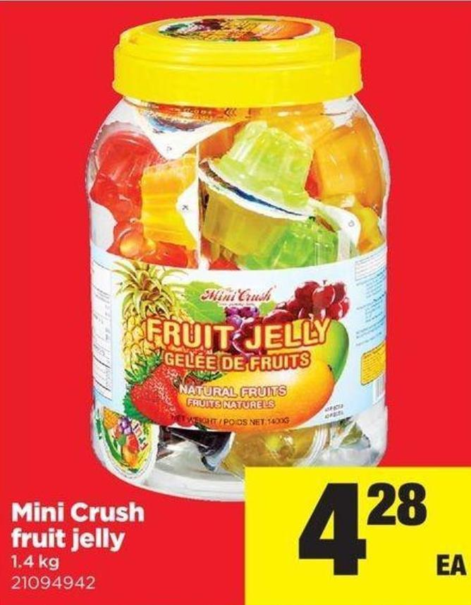 Mini Crush Fruit Jelly - 1.4 Kg