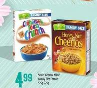 Select General Mills Family Size Cereals