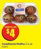 Compliments Muffins 4-6 Pk Muffins