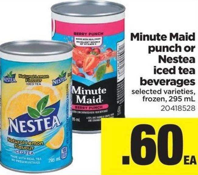 Minute Maid Punch Or Nestea Iced Tea Beverages - 295 mL