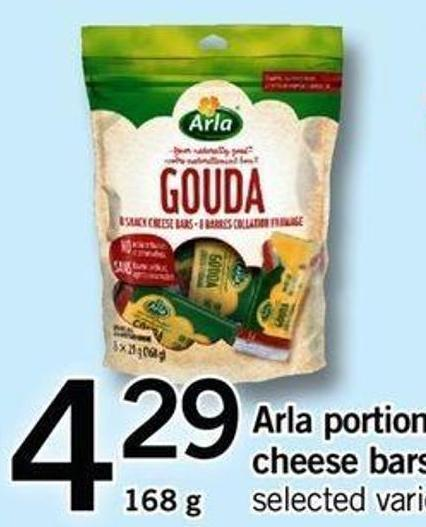 Arla Portion Pack Cheese Bars - 168 G